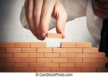 bauen, neues geschäft