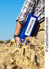 "Bauer portfolio ""promotion"" on cereal box - A farmer with a..."
