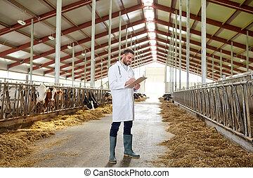 bauernhof, kuhstall, kühe, tierärztliche , molkerei