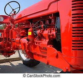 bauernhof, motor, traktor