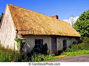 bauernhof, westen, hütte, irland, ländlich