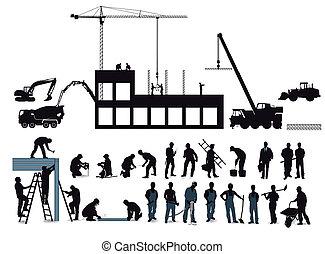 baugewerbe, bauen, projekt
