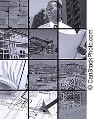 baugewerbe, collage