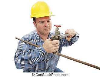 baugewerbe, klempner, arbeitende