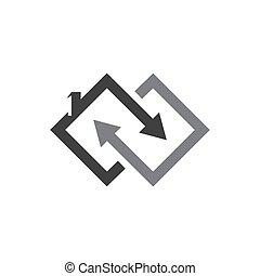baugewerbe, logo, design, eigenschaft