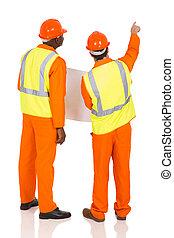 baugewerbe, mitarbeiter, zeigen