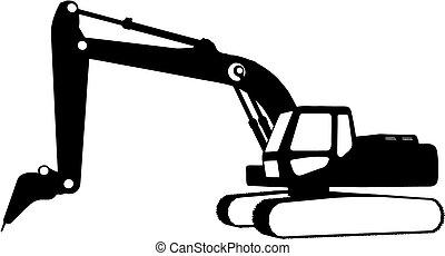 baugewerbe, (vector), fahrzeuge