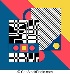 bauhaus background vector card