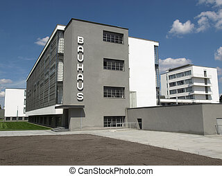 Bauhaus, Dessau (near Berlin), Germany - iconical masterpiece of modern architecture designed in 1925 by Walter Gropius