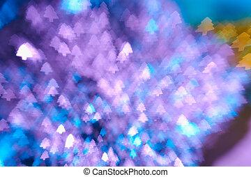 baum, Fokus, Verwischt, Lichter,  bokeh, hintergrund, Weihnachten, heraus