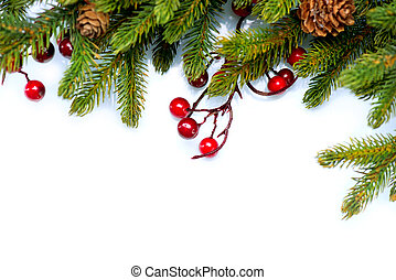 baum, freigestellt, design, weißes, umrandungen, weihnachten