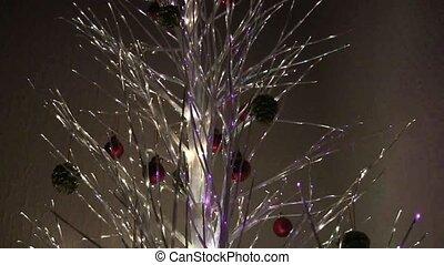 baum, lights., weihnachten