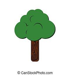 baum, pflanze, natur, jahreszeit, icon., vektorgrafik