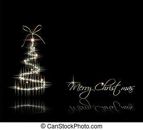 baum., vektor, weihnachten, hintergrund