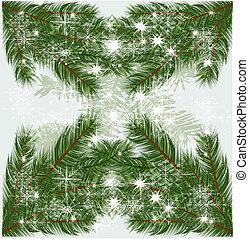 baum, vektor, zweige, weihnachten, hintergrund