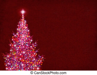 baum, weihnachten, bunte