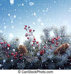 baum, weihnachten, hintergrund