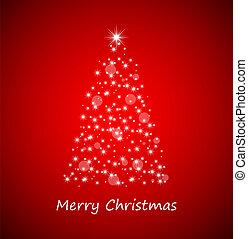 baum, weihnachten, sternen