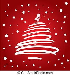 baum, weihnachten, (vector)