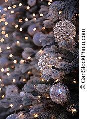 baum zündet, dekorationen, jahr, neu , weihnachten
