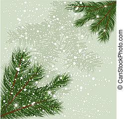 baum zweigt, weihnachten