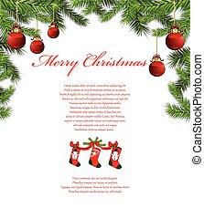 baum zweigt, weihnachten, hintergrund