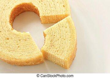 Baumkuchen on White Plate