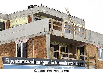 baustellenschild, condos - construction site, sign, condos...