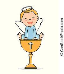bautismo, tarjeta, invitación
