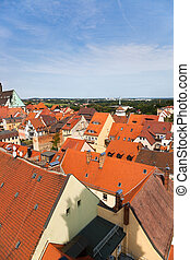 Bautzen city in Germany. Roofs cityscape.