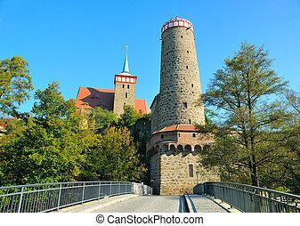 Bautzen, old town with Ortenburg in saxony.