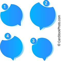 bavarder, gabarit, intelligent, téléphone, sms, bubbles.