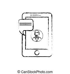 bavarder, smartphone, technologie