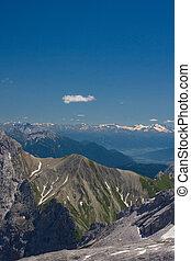 bavarese, alps., zugspitze, vista