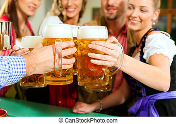bavarese, bere, birra, pub, persone
