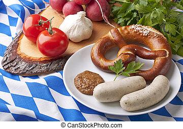bavarese, bianco, salsicce