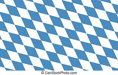 Bavaria and Oktoberfest flag pattern or background