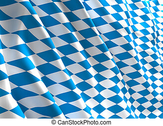 bavaria flag 3d - fine 3d image of classic waved bavaria...