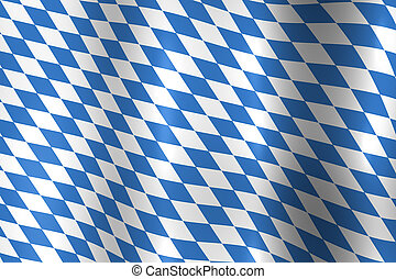 Bavaria Germany Flag - Bavaria Germany National Flag in Blue...