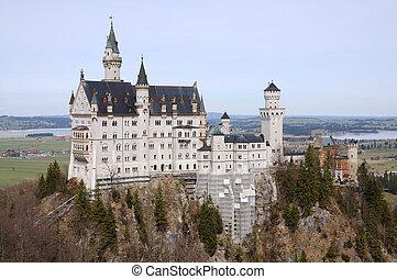 bavaria, neuschwanstein, 驚かせること, ドイツ, 城