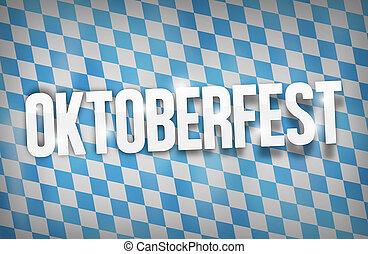 Bavaria Oktoberfest Flag Nice Font