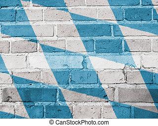 Bavaria Politics Concept: Bavarian Flag Wall