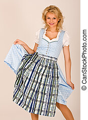 Bavarian beauty in costume