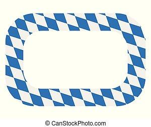 Bavarian flag as quadrat on white