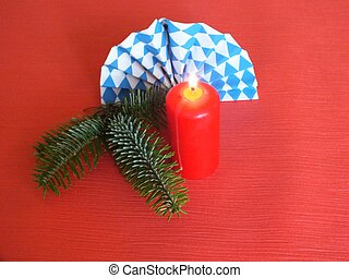 Bavarian food table christmas decorations