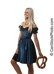 bavarian girl in a dirndl