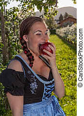 Bavarian girl is enjoying