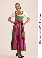 Bavarian girl with dancing