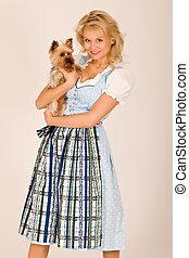 Bavarian girl with dog
