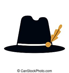 Bavarian hat cap vintage vector illustration graphic design